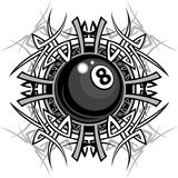 Billiards Eightball Tribal Graphic Image Royalty Free Stock Photos