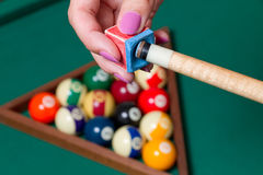 Billiards elements Stock Photography
