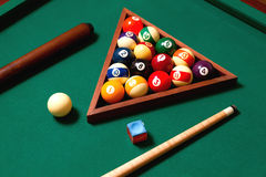 Billiards elements Stock Photo