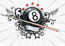 Billiards Emblem. Grunge Vector Illustration Royalty Free Stock Photo