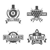 Billiards emblems labels and designed elements Royalty Free Stock Photo