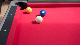 Billiards. Game of american billiards played on a billiard table for two persons royalty free stock photos