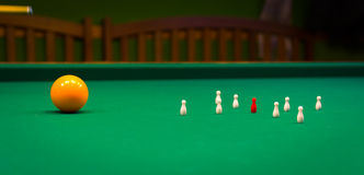 Billiards, game of carom Royalty Free Stock Photography
