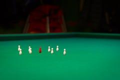 Billiards, game of carom Stock Photos