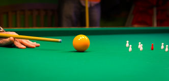 Billiards, game of carom Royalty Free Stock Images
