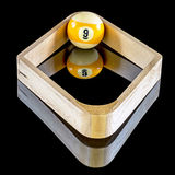 Billiards game of nine ball rack Royalty Free Stock Photography