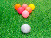 Billiards and golf Royalty Free Stock Photos