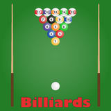 Billiards. Icon. Flat design, vector illustration, vector Royalty Free Stock Image