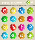 Billiards icon set Royalty Free Stock Images