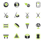 Billiards icon set Royalty Free Stock Image