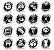 Billiards icon set Stock Image