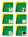 Billiards icons Stock Images