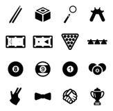 Billiards Icons Stock Image