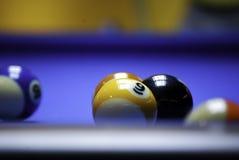 Billiards. Indoor American billiards pool game Royalty Free Stock Photo