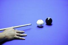 Billiards. Indoor American billiards pool game Stock Images