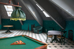 Billiards in luxury restaurant Royalty Free Stock Photography