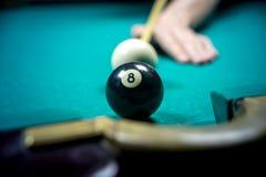 billiards obsługują bawić się Zdjęcie Stock