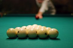 Billiards, the party beginning. Stock Photos