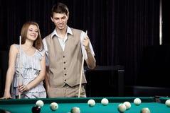 billiards pary sztuka zdjęcie stock
