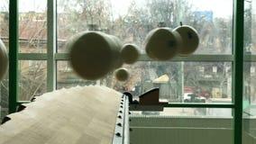 Billiards pigułek piłki wieszają w wahadło skutku zdjęcie wideo