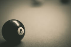 Billiards plastic balls on table. Photograph of some billiards plastic balls on table royalty free stock images