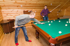 Billiards players Royalty Free Stock Images
