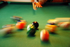 Billiards playing Stock Images