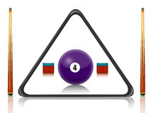 Billiards pool. Illustration of billiards equipment with number ball Stock Images