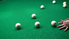 Billiards Pool Jump Shot Trick HD stock video footage