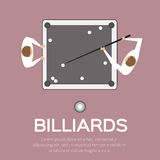 Billiards, pool, snooker game. Royalty Free Stock Photo