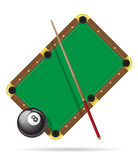 Billiards pool table vector illustration Royalty Free Stock Image