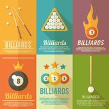 Billiards Poster Set Stock Photo