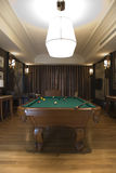 Billiards Room. The luxury billiards room in hotel Royalty Free Stock Photo