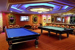 Billiards room. The classical room for billiards Stock Photos