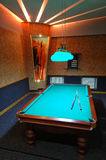 Billiards room. Classical billiards room for games Royalty Free Stock Photo