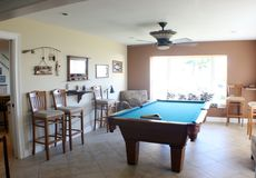 Billiards room stock image