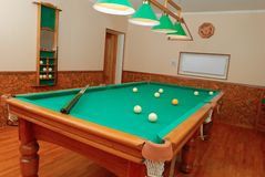 Billiards room interior Royalty Free Stock Image