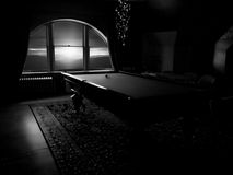 Billiards room in an old mansion Royalty Free Stock Photos
