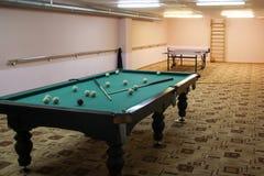 Billiards in a sanatorium dispensary royalty free stock image