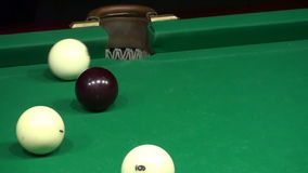Billiards Shot Ball in the Pocket HD stock footage