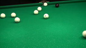 Billiards Shot Ball in the Pocket 3 Hd stock video footage