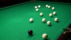 Billiards Shot Ball in the Pocket 4 Hd stock video footage