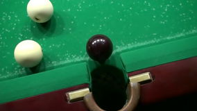 Billiards Shot Ball in the Pocket 5 Hd stock footage