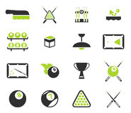 Billiards simply icons Stock Photography