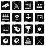 Billiards simply icons Stock Image