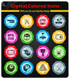 Billiards simply icons. Billiards simply symbol for web icons and user interface Stock Images