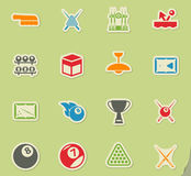 Billiards simply icons. Billiards simply symbol for web icons and user interface Royalty Free Stock Photos