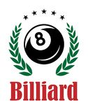 Billiards and snooker emblem Royalty Free Stock Photography