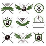 Billiards and snooker labels set. Vector. Billiards and snooker labels and icons set. Vector vector illustration