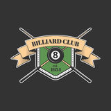 Billiards and snooker sports emblem. With text for sporting logo and leisure design Stock Images